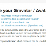 gravatar image for wordpress