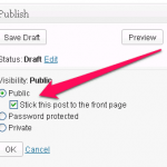 how to make blog posts sticky