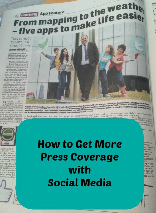 How to get more press coverage with your social media