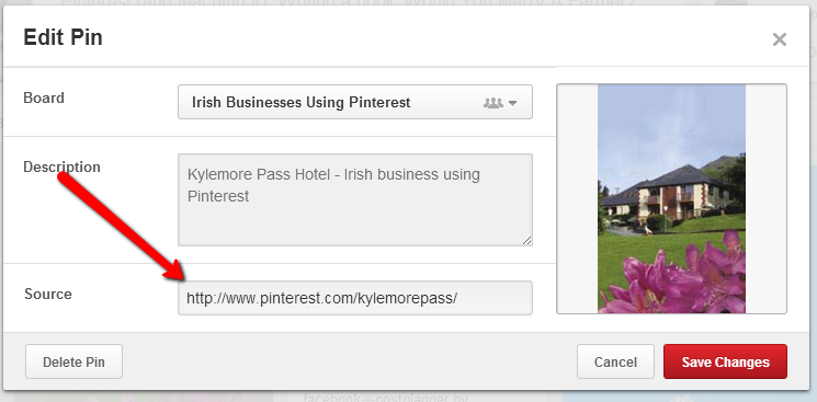 Pinterest Tutorial - how to change a link in a pin