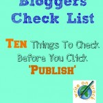 Bloggers check list ten things to check before you click on publish