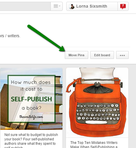 How to move pins on Pinterest