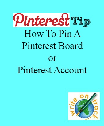 Pinterest Tip How to pin a pinterest board or pinterest account