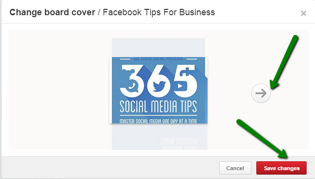 how to change your board covers on Pinterest