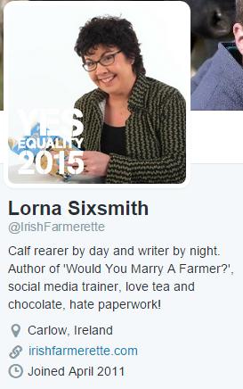 Lorna Sixsmith Twitter bio