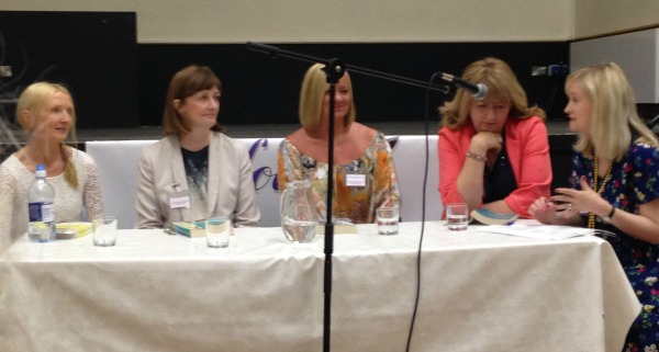 Compelling Fiction Panel - Claudia Carroll, Rachel English, Louise Phillips, Carmel Harrington, chaired by Caroline Busher