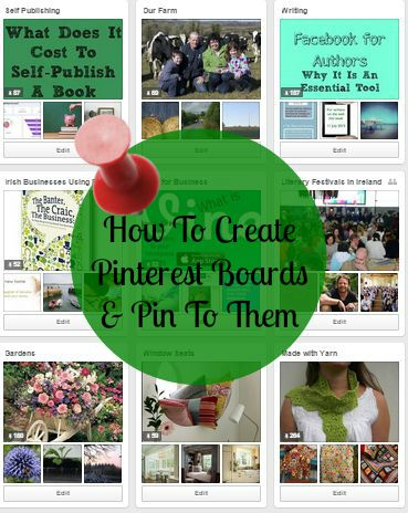 How to create pinterest boards and pin to them